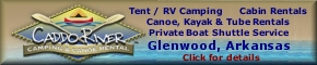 Caddo River Camping & Canoe Rentals in Glenwood, Arkansas