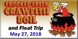 Crooked Creek Cleanup and Crawdish Boil