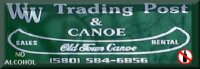 WW Trading Post and Canoe on Oklahoma's Lower Mountain Fork River