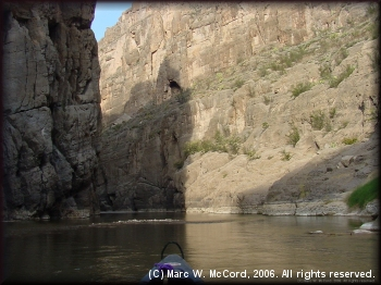 Entering Mariscal Canyon in canoes