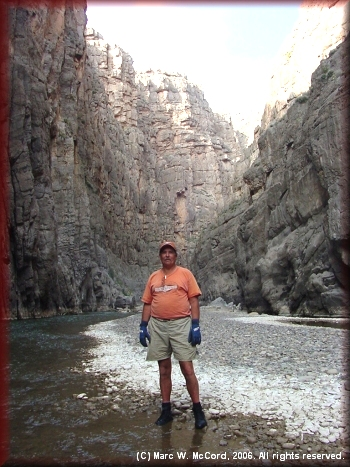 Marc McCord standing by the river in Mariscal Canyon