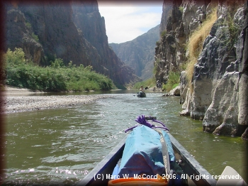 Nearing the end of Mariscal Canyon