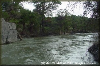 The scenic Blanco River during high water