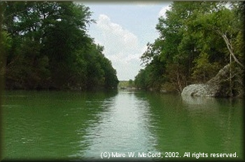 The Blanco River below Fischer Store Road