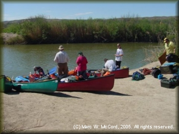DDRC group preparing to begin Boquillas Canyon trip