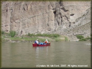 Entering Boquillas Canyon by canoe