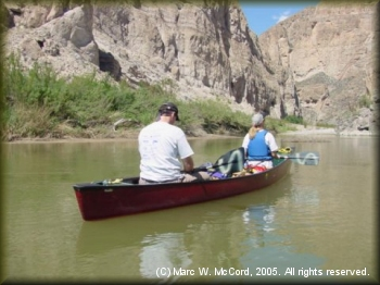 Alan Tittle and Sharon on the Rio Grande