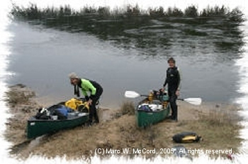 Charlie Llewellen and Marc McCord on the Sabine River, January 27, 2005