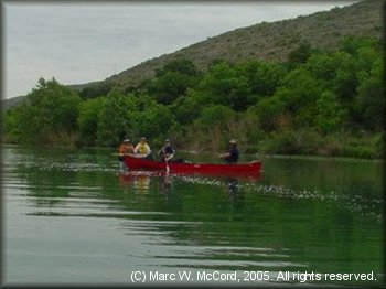 Gary and Kathy Tupa, Kathy Cusick and Kevin Longin on the Devils River