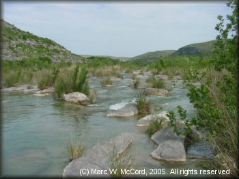 Reed jungles and rock garden rapids - two characteristics of the Devils River