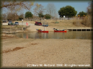 Fisherman's Park boat ramp in Bastrop