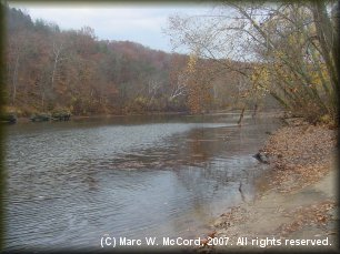 Gasconade River below The Big Piney River confluence