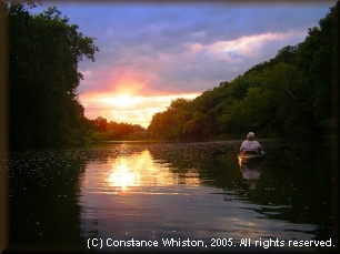 Gasconade River at sunset