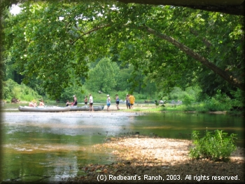 A typical gravel beach on the Niangua River