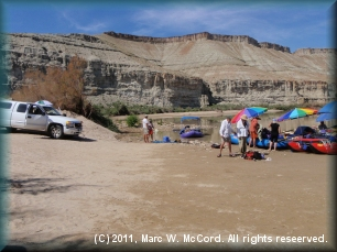 Sand Wash Boat Access on the Green River