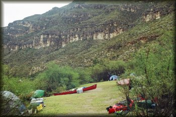 Our Mexican side campsite at San Rocendo Canyon just below Hot Springs Rapid