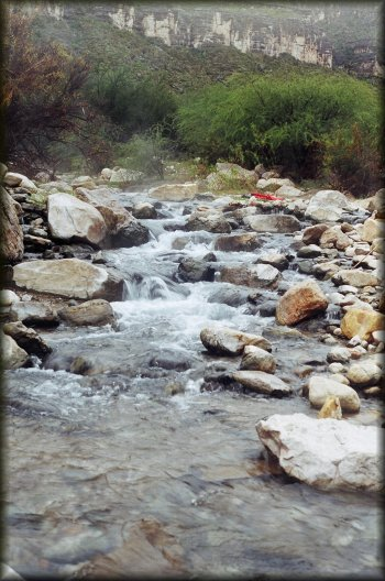 The famous hot springs of San Rocendo Canyon