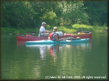 Bryan Jackson (canoe) and Paul Boling (kayak) on the LMF