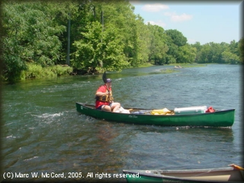 Steve Crowe canoeing and fishing the LMF