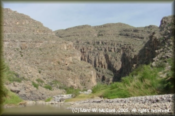 Looking toward the entrance to Mariscal Canyon