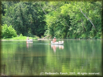 Canoeing is a popular activity on the Niangua River