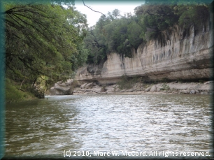Big bluffs along the Nolan River