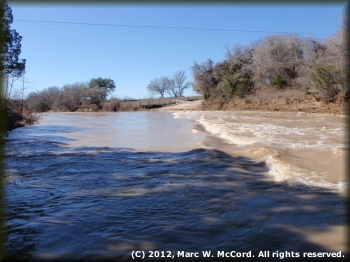 Edwards Crossing (CR2008) at 2,600 cfs