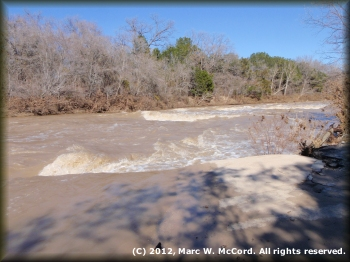 First rapid below Edwards Crossing at 2,600 cfs