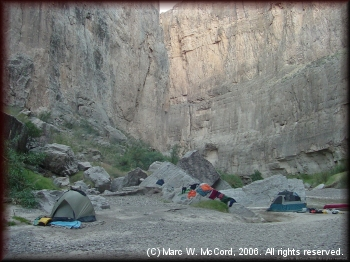 Another Mexican side campsite inside Santa Elena Canyon