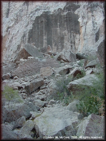 The beginnings of a new rapid in Santa Elena Canyon