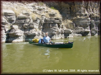 Marc McCord enjoying the scenery on the river
