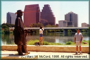 Stevie Ray Vaughan statue at Auditorium Shores