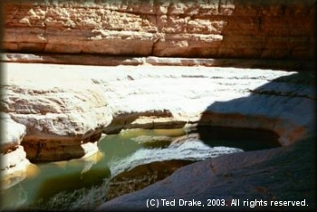 Gorgeous sandstone formations accent the river in Utah