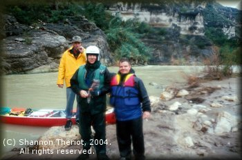 Kelly Covington, Marc McCord and Scott Dillon below Hot Springs Rapid