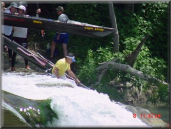 Sometimes you just gotta get wet paddling the Safari