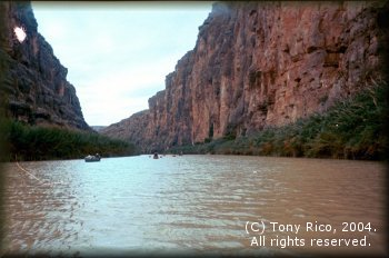 The beautiful canyons of the Rio Grande