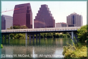 Town Lake looking toward downtown Austin