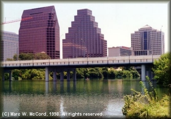 Town Lake looking north into downtown Austin
