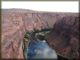 Colorado River looking downriver from Glen Canyon Dam