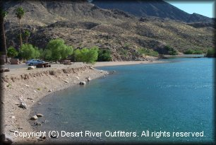 Willow Beach take-out photo courtesy Desert River Outfitters