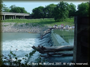 Zedler Mill Dam at Luling