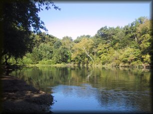 Fall brings a change of colors to the Niangua River