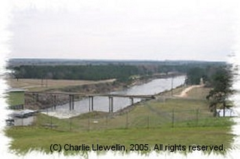 Toledo Bend Reservoir hydroelectric generation channel